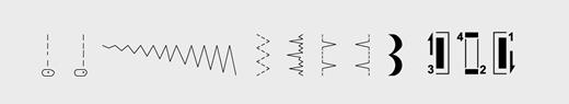 Виды строчек Bernina Bernette 10