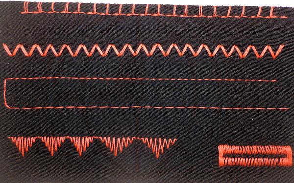 Тест на костюмной ткани Janome 5024