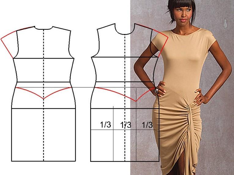 Как сделать из двух платьев одно